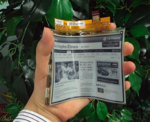 可弯曲电子书发明成功 厚仅0.7毫米可弯40度