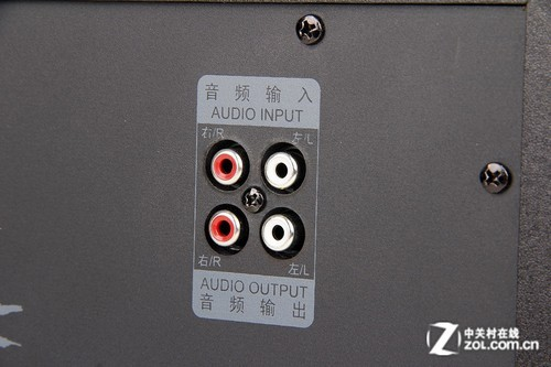 低音炮后面的音频接口