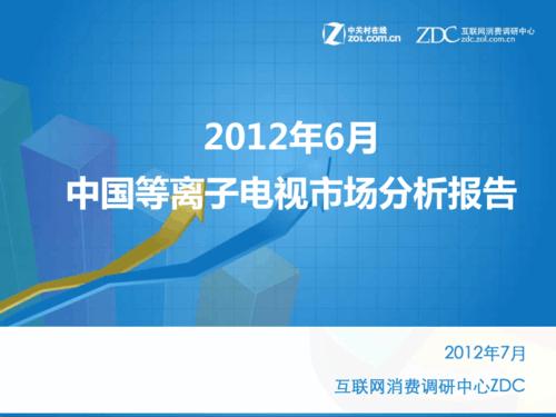 2012年6月中国等离子电视市场分析报告
