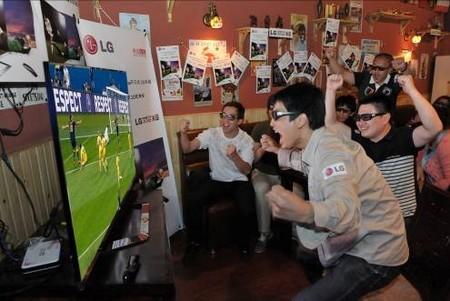 """欧洲杯""""零距离""""  LG Cinema不闪式3D电视与您共享体育激情"""