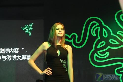洋妞 DOTA一个也不少 Razer展台美女秀
