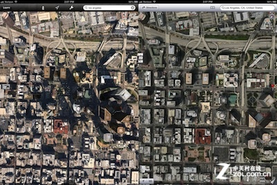 ipad3越狱_iOS6中苹果3D地图比谷歌地图清晰度高_软件资讯新闻资讯-中关村在线