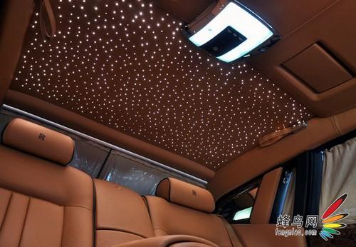 星光劳斯莱斯汽车顶棚 满天星 劳斯莱斯 幻影星光顶饰高清图片