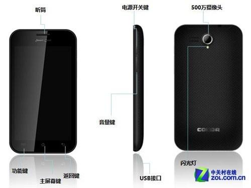 5吋+1GHz+2500mAh电池 小酷EG189上市