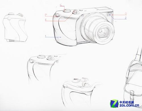 哈蘇相機手繪圖