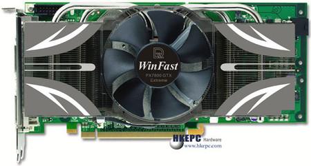 竟用专业卡散热器 丽台超频版7800GTX