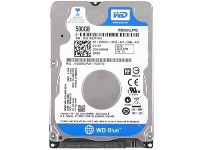西部数据 500GB 5400转 8M SATA3 蓝盘(WD5000LPVX)