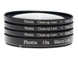 Phottix +1,+2,+4,10X微距镜头(特写镜头) 58mm