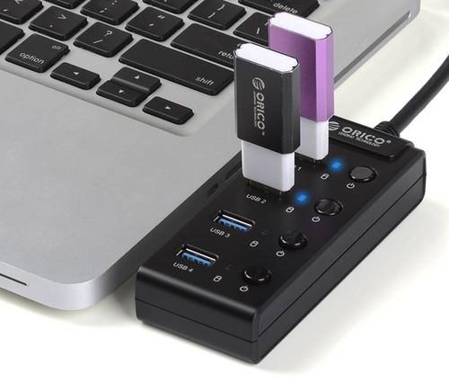 4口带开关USB3.0集线器发布 给你高速新体验