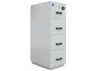 泰格 FRD-43 泰格防火防磁文件柜/保险柜 FRD43  一个纸张抽屉+3个磁碟抽屉  共4个抽屉  档案、文件、光盘、磁带存放柜