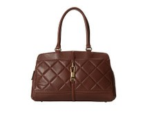 海淘:Calvin Klein CK 女士奢华小香风菱格挎包 棕色款