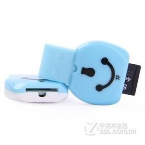 HOSEE(HOSEE) TF-100 高性能笑脸读卡器 适用于各类TF卡