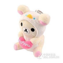 PLUFY 可爱卡通毛绒移动电源-爱心熊