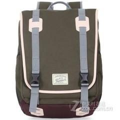 promax时尚英伦韩版双肩包男士潮款背包女学院风旅行休闲学生书包MD1033A-41  墨绿色
