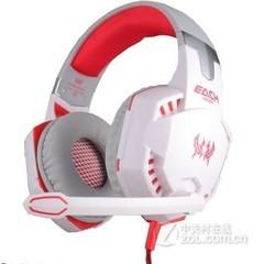 因卓(KOTION EACH)G2000 头戴式游戏耳麦 白红色