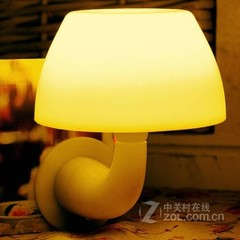银之优品蘑菇声光控感应小夜灯 遥控版黄色光