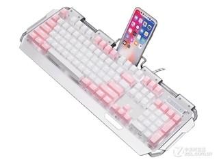 新盟x10曼巴狂蛇复古朋克混彩少女版键盘(青轴)