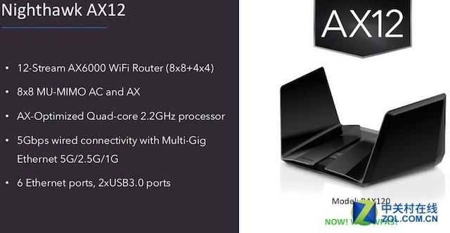 网件两款802.11ax路由器AX8、AX12亮相