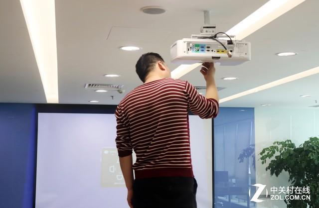 灵活便捷 优派高亮商务投影机安装效果展示