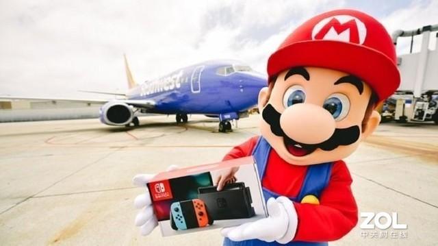 任天堂联动美国西南航空公司每天抽一航班送Switch