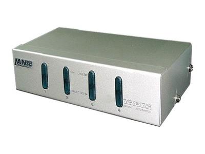 LANBE AS-41P 1组KVM操作4台主机桌面式鼠标接口PS/2,显示器接口VGA