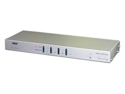 LANBE AS-2104RD 1组KVM操作4台主机  机架式  键盘、鼠标接口PS/2  OSD菜单 可级联
