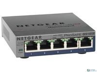 Netgear网件GS105 5口千兆交换机 千兆铁壳1000M网络交换器分线集线监控企业交换机