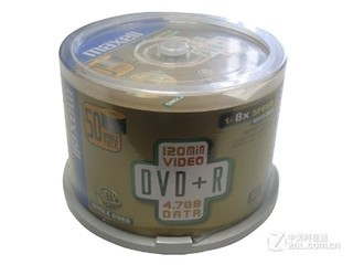 Maxell DVD+R 8速 4.7G(50片桶装)