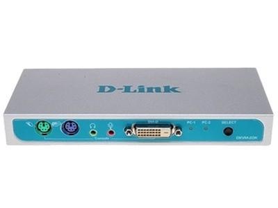 D-Link DKVM-2DK   2口金属壳桌面型,PS2、DVI切换器,送2组1.5米 PS2 KVM线缆 包邮