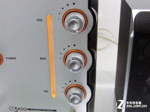 前置旋钮设计 漫步者木质2.1音箱380元